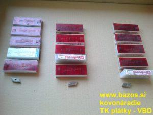 Plátky TK, VBD SK, plátky do nožov KNUX 190410 ER S30