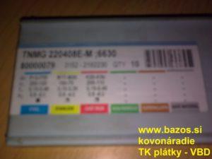 Plátky TK, VBD SK TNMG 220408 E-M 6630, plátky do nožov