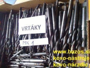 Vrtáky MK1, vrtáky do kovu, kužeľové vrtáky, vrtáky s kužeľom, vrtáky