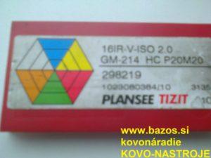 Rezné doštičky, doštičky k nožom, výmenné plátky, 16IR-V-ISO 2.0 GM-214 HC P20M20
