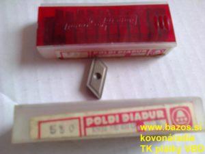 Plátky TK, plátky na nože KNUX 190415 ER S30, plátky na sústruženie