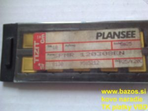 Plátky na sústruženie, TK plátky SPMR 120308 EN P25 K20 C, rezné plátky