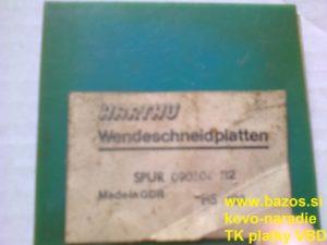 Plátky TK, plátky Harthu SPUR 090304, nožové plátky