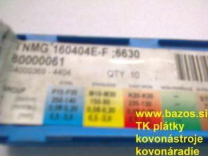 Plátky k nožom, plátky na nože, TK plátky, TNMG 160404E-F 6630