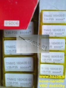 VBD SK, rezné plátky TNMG 160408-61 135 P35 33084, TK plátky