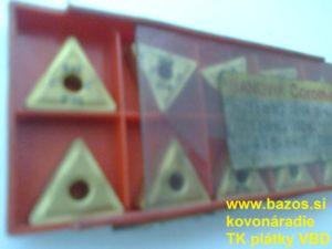 Plátky TK, plátky do nožov, plátky Sandvik TNMG 160408-61 415 P-K15 22009