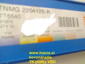 Výmenné doštičky, TK plátky TNMG 220412 E-R TT 6640, výmenné plátky