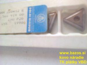 Plátky TK, plátky na nože TNMM 220412 E S20 ISO P20, výmenné doštičky
