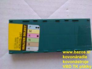 Plátky do nožov, plátky TK, VBD SK TPMR 110304 WAP 20