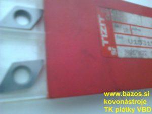 Podložky pod TK nože, karbidové podložky, podložky pod plátky U153150 HM-UNTERLAGE
