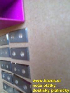 Plátky na obrábanie dreva, drevoobrábacie doštičky, drevoobrábacie plátky 173815 29x12x15