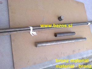 Bronz, kovoobrábacie materiály, bronz na sústruženie, bronzový materia