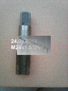 Metrický závitník M24x1,5, závitník metrický, ručný sadový závitník