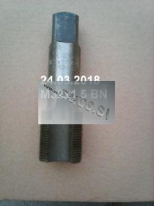 Metrický závitník M32x1,5, závitník metrický, ručný sadový závitník